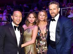 John Legend, Chrissy Teigen, Blake Lively & Ryan Reynolds #FansnStars