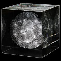 The Calabi-Yau Manifold is a 3d projection of a 6+ dimensional shape. Used as a potential model for quantum superstrings, the Calabi-Yau manifold is a beautiful piece of hyperdimensional mathematics. It also looks seriously cool on your desk.