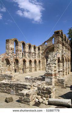 stock photo : Byzantine ruins in Nessebar, Bulgaria