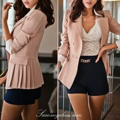 Spring fashion- Sexy and cute at the same time. This is such a cute outfit! Fashion Mode, Look Fashion, Urban Fashion, Womens Fashion, Fashion Trends, Classy Fashion, Trending Fashion, Cheap Fashion, Spring Summer Fashion