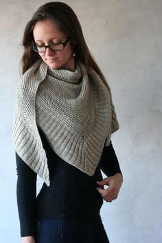 mitered shawl • beautifully knit--pattern free via Ravelry, just keep heading down the rabbit hole of links.
