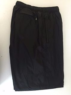 NIKE Men Black Pants (L) Large Bottom Zippers 2 Zippered Side pockets Nylon. #Nike
