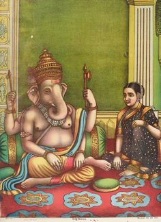 Siddhi Vinayak (a form of Ganesha) by Chitrashala Press, Indian print, Art Gallery of NSW
