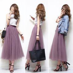 Korean Girl Fashion, Korean Street Fashion, Japanese Fashion, Modest Fashion Hijab, Skirt Fashion, Fashion Outfits, Womens Fashion, Petite Fashion, Fashion Fashion