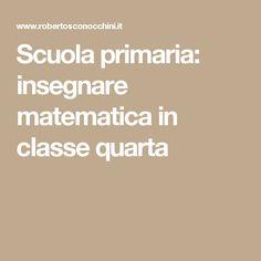 Scuola primaria: insegnare matematica in classe quarta