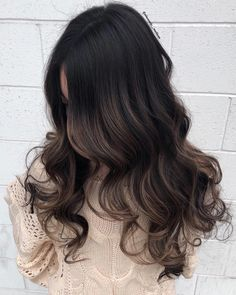 Luscious Balayage With Subtle Purple Tones - 20 Stunning Examples of Mushroom Brown Hair Color - The Trending Hairstyle Balayage Hair Brunette Caramel, Balayage Hair Dark Black, Balayage Hair Blonde Medium, Black Hair With Highlights, Brown Balayage, Hair Color For Black Hair, Brunette Hair, Hair Highlights, Chunky Highlights