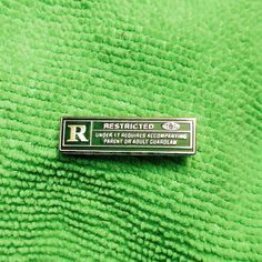 R For Restricted pin; you definitely need to be aware of the warning(s) that comes with me Pin And Patches, Iron On Patches, Bag Pins, Jacket Pins, Cool Pins, Stickers, Up Girl, Pin Badges, Lapel Pins