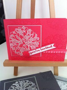 Regarding Dahlias Invitation Cards