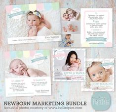 A Photography template that targets new moms who can refer a friend for Newborn Photography sessions. By PaperLarkDesigns