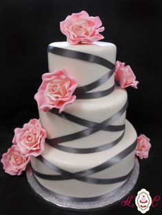 Charcoal Gray and Pink Wedding...