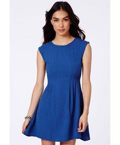 Marfusha Textured Swing Dress - Dresses - Swing Dresses - Missguided