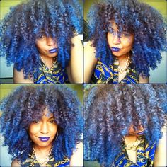 Yassss girl Yasss!!! Need this for next relaxer!! | Jerome Russell Bengal Blue temp hairspray on natural hair