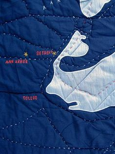 The Great Lakes throw-sized quilt is our love letter to the Upper Midwest