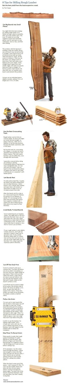 8 Tips for Milling Rough Lumber