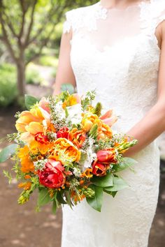 Summery sunshine: http://www.stylemepretty.com/2015/07/16/30-bright-beautiful-bouquets-for-the-bold-bride/