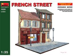 The MiniArt French Street in 1/35 scale from the plastic model dioramas range provides a highly detailed diorama perfect for displaying your 1/35 scale models.  This plastic diorama kit requires paint and glue to complete.