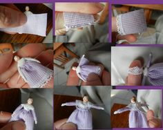 Dolls:  Evalina Rose: Dressing a Tiny Doll