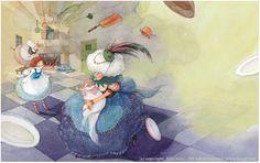 """""""Алиса в стране чудес"""". Illustration by Kim Min Ji"""
