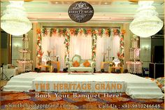 The Heritage Grand – Book Your Banquet Here!  Make your events unforgettable with The Heritage Grand because we are renowned for our superb banquet hall in delhi.  We setup banquet with different themes and design that reflects totally your joyful life moments that you enjoy much.  The Heritage Grand provides also services for catering and foods with banquet hall in west delhi.  Welcome at http://www.theheritagegrand.com/ to find more about banquet hall in north delhi.