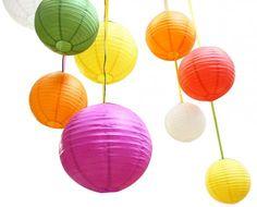 színes papirlampionok