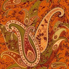 crazy for paisley ~ Elaborate Paisley Pattern