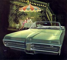1967 Pontiac Gran Prix, First year for hidden headlights and the only year it was a convertible.