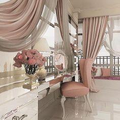 Every girls dream.. spied on @lariya_battalova #interior #female #femmefatal #blush #pink #powder #prettythings #happyplace #fancy #lush #dressup #mua #makeup #blooms #pretty #beautiful