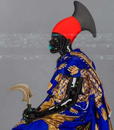 Eddy Kamuanga ILunga, Reconnaissance 2, 2016. Courtesy October Gallery. -- Hailing from the Democratic Republic of Congo, Eddy Kamuanga iLunga studied at the Institute of Fine Art in Kinshasa. His visually commanding artworks are characterised by bold vibrant colour, detailed patterns and texture. His influences include contemporary fashion, music and digital imagery, combined with references to traditional culture. Founder of the young artist collective M'Pongo. Congo, October Gallery, Contemporary African Art, Contemporary Fashion, Womens Month, African Artists, Afro Art, African Diaspora, The Clash