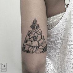 Triangular peony piece by Marla Moon
