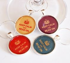 21 perfect accessories for your book club, including these adorable wine charms.
