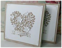 my stampart - Stampin' Up! Pralinen zum Valentinstag umhüllt und dekoriert mit Thinlits Blühendes Herz/Bloomin' Heart