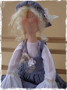 Текстильная интерьерная кукла Тильда в стиле бохо by LilyDollsGifts on Etsy