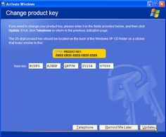 An Easy Guide to Updating Your Product Key in Windows XP: Enter the New Windows XP Product Key