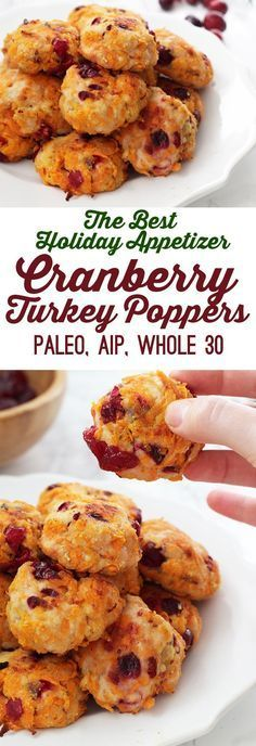 Cranberry Sweet Potato Turkey Poppers.. The Best Holiday Appetizer! (Paleo, AIP, Whole 30)