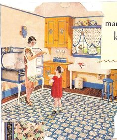 This pretty 1930 kitchen appeared in House Garden magazine