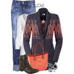 Colorful Cardigan, created by tmlstyle on Polyvore