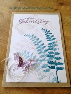Handmade by Fanny Stampin Up, Blog, Material, Happy Birthday, Butterfly, Frame, Cards, Handmade, Decor