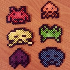 Space Invaders perler beads by  ragedoomsday