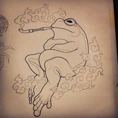 Ideas For Drawing Pencil Tattoo Sketching Tattoo Design Drawings, Tattoo Sketches, Art Sketches, Tattoo Designs, Pencil Tattoo, Pencil Drawings, Art Drawings, Smoke Drawing, Frog Drawing