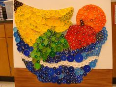 This is my mom's (Elizabeth Harrison) work ~ amazing isn't she! She did this for the school cafeteria!