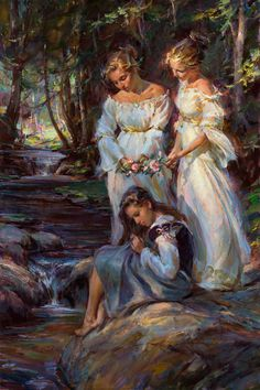 """Crown of Beauty"" 60 x 40, oil ~ Daniel Gerhartz  ~  ""... to bestow on them a crown of beauty instead of ashes, the oil of gladness instead of mourning, and a garment of praise instead of a spirit of despair."" Isaiah 61:3 http://danielgerhartz.com"