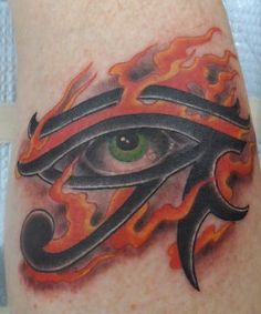 Eye of Horus: An Egyptian symbol of protection. Horus was the ancient Egyptian sky god. His right eye was associated with the sun god Ra.  Protection