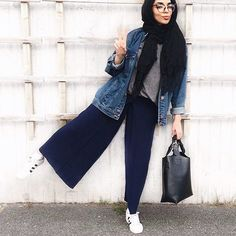 Fashion Hijab Casual Clothes New Ideas Street Hijab Fashion, Muslim Fashion, Modest Fashion, Trendy Fashion, Fashion Clothes, Trendy Style, Casual Clothes, Style Fashion, Casual Outfits