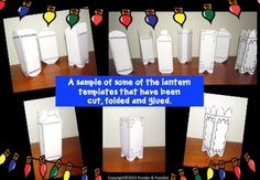Book Report ~ Reading Task Cards and Lantern Templates