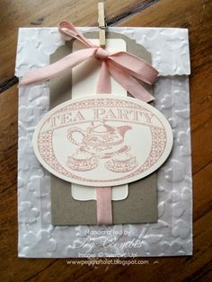 Wax Paper Cookie Bag by Stampin' Up! UK demo Peg