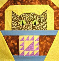 Cat Paper Pieced Quilt Block Pattern  Lady of the Lake by