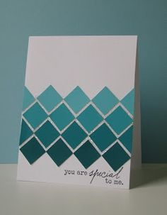 square punch paint colors card masculine