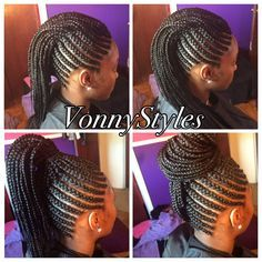Braided Mohawk Hairstyles Braided Mohawk Bun …  Natural …