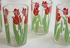 Vintage juice glasses.