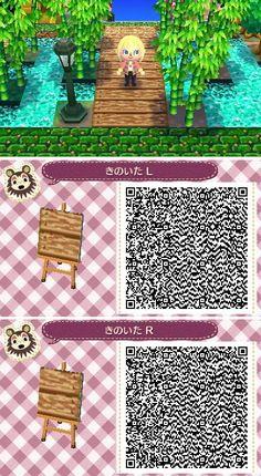 QR-Code der Brücke - Animal Crossing New Leaf - Animals Qr Code Animal Crossing, Animal Crossing Pocket Camp, Animals Crossing, Leaf Animals, Cute Animals, Acnl Qr Code Sol, Acnl Pfade, Acnl Paths, Motif Tropical